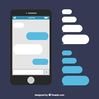 메신저 응용 프로그램에 대 한 다른 거품 채팅 세트
