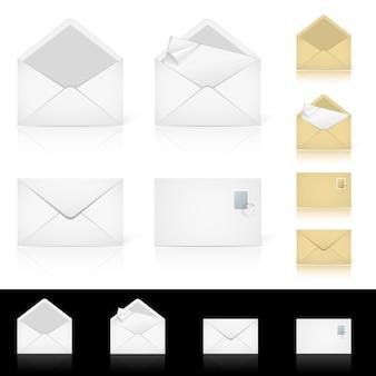 電子メールのさまざまなアイコンのセット