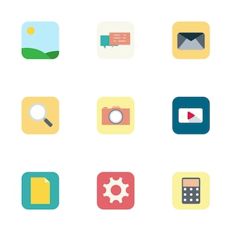 Set of different icons