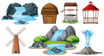 Набор различных объектов