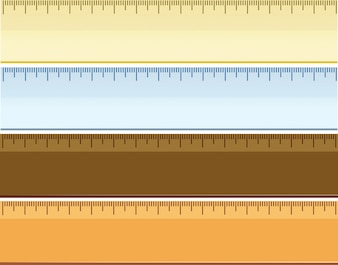 Set of different ruler