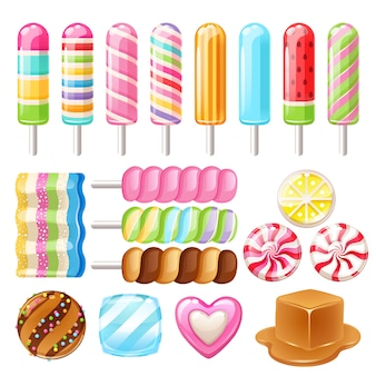 別のお菓子のセットです。各種キャンディー。