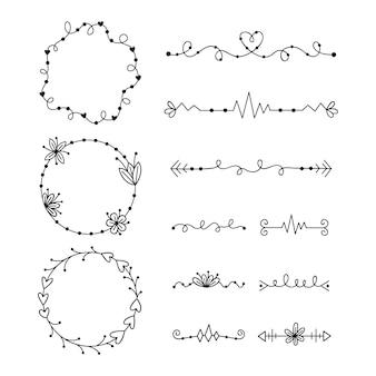 Набор различных типов рамы и разделителей