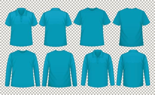 同じ色のシャツの異なるタイプのセット