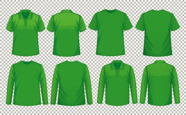 同色のシャツの異なる種類のセット