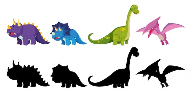 恐竜キャラクターのセット