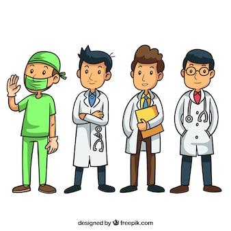 医者のキャラクターのセット