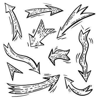 Набор курсоров стрелок журнала пули каракули
