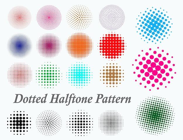 점선 원활한 패턴 또는 하프톤 도트 패턴 원활한 또는 그라데이션 부드러운 점 세트