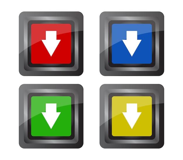 ダウンロードボタンのセット