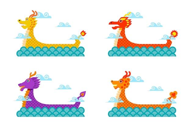 Набор лодок-драконов