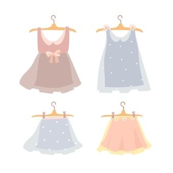 ドレスとスカートのセット