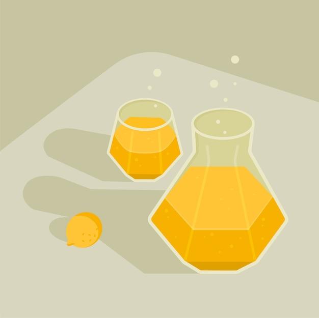 飲み物の要素のセット
