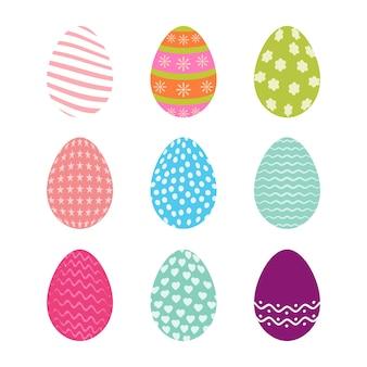 Набор пасхальных яиц с бесшовными рисунками