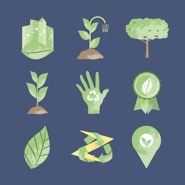 생태 및 환경 세트