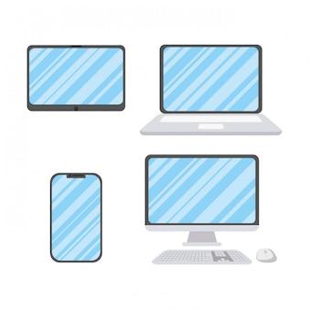 Набор иконок электронных устройств
