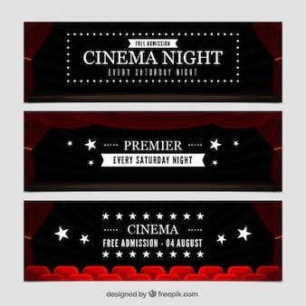 Set of elegant cinema banners