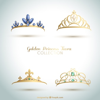 Set of elegant princess crowns
