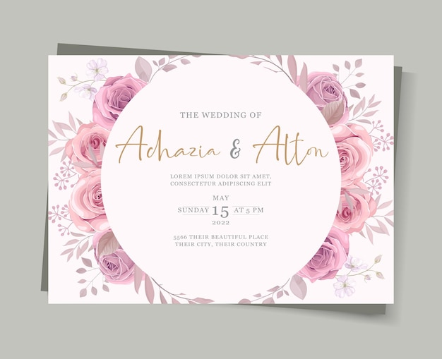 Набор элегантных свадебных открыток с рисованным цветочным декором