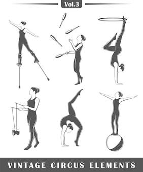 Набор элементов цирка