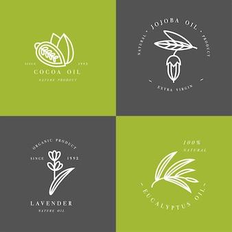 Комплект эмблем - какао, лаванда, жожоба
