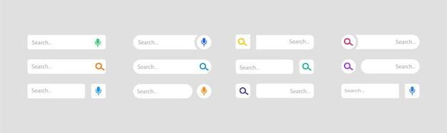 웹 주소에 대한 빈 검색 창 세트