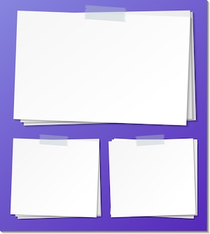 빈 스티커 메모 용지 서식 파일 집합