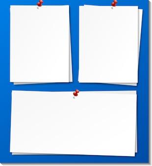 Набор пустых бумажных шаблонов для заметок