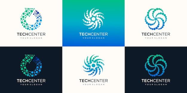 エネルギーのロゴデザインのセット
