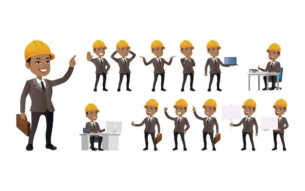 Набор инженера с разными позами