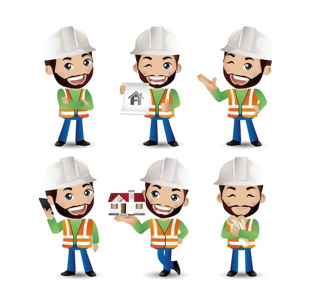 エンジニア、労働者のセット