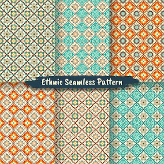 기본 스타일, 민속 디자인, 부족 패턴, 민족 장식의 민족 원활한 패턴 세트