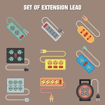 Set of extension cord
