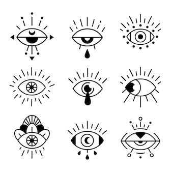 흰색 절연 눈 기호 집합