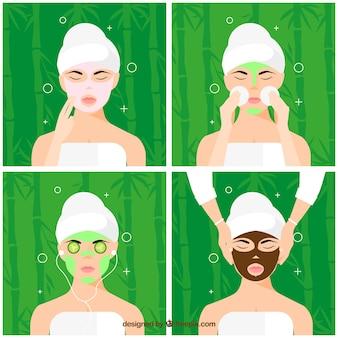 Set of facial treatments