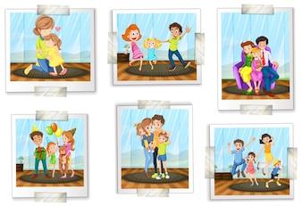 Set of family photos