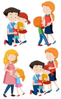 Набор семейных сцен