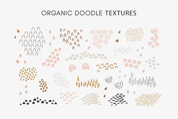 派手な手描きの抽象的な有機テクスチャのセット