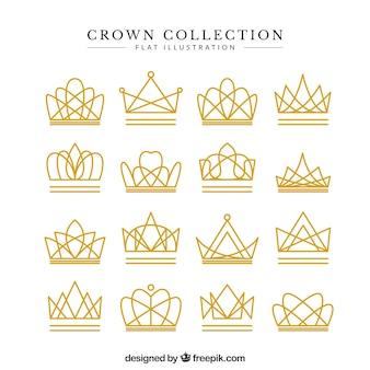 Set of fantastic lineal crowns