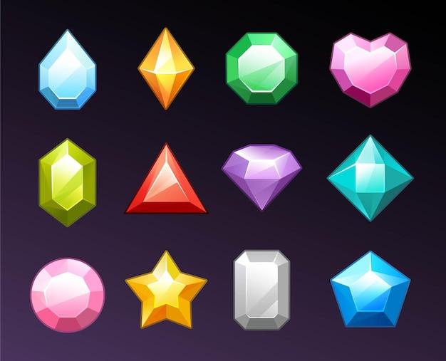 Набор фантазийных бриллиантов
