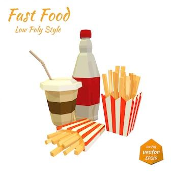 Набор предметов быстрого питания. иллюстрация