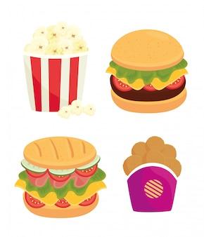 패스트 푸드, 점심 또는 식사 세트