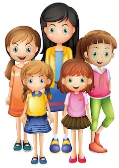 Set of female character