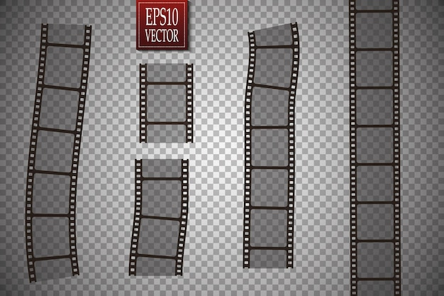 フィルムストリップのセット。