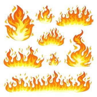 火炎のセット