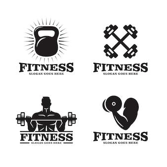 フィットネスのロゴのセット