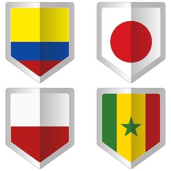 Набор флагов для чемпионата мира по футболу