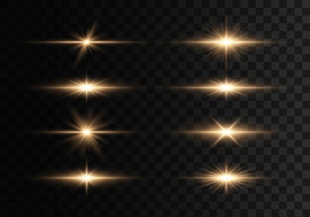 フラッシュ、ライト、スパークルのセット