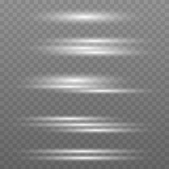 투명 한 배경에 고립 된 플래시 조명 및 스파크 추상적인 황금 빛의 집합