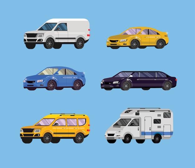 평면 자동차의 집합입니다. 운송 수집